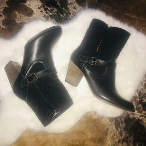 Bella-vita black leather boots  sz 10